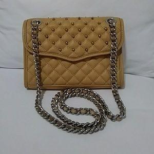 Camel/tan studded Rebecca Minkoff handbag